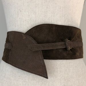 Leather & Suede stylish wide Wrap Belt